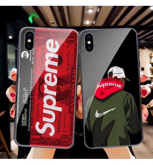 ブランド Galaxy Note 9ケース  iPhone Xs/Xr/X ケース supreme ブランド クリア背面ケース  シュプリーム iPhone Xs Maxカバー強化ガラス SUPREME アイフォンX/8/7 Plusケース ブランド 新品
