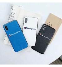 ブランド iPhone Xs/Xs Max/Xr ケース champion 刺繍 ハードケース チャンピオン iPhone X/8/8 Plusカバーおしゃれ メンズレディース アイフォン7/6s/6 Plusケース 新品