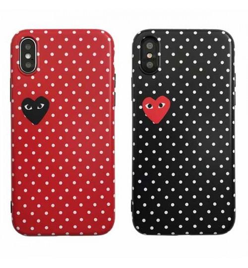 CDG プレー iPhone Xs Max/Xrケース ブランド コムデギャルソン COMME des GARCONSブランドアイフォンX/8/8 Plusケース おしゃれ メンズレディース iPhone 7/6s/6 Plusカバー 新品