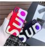 SUPREME 強化ガラス iPhoneXS/XS Max/XR ケース ブルーレイデザインー シュプリーム/SUP iPhoneX/8/7 Plus保護カバー supreme風 アイフォン6s/6 プラスケース ペア用