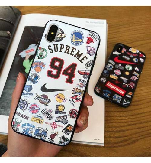 Supreme X Nike X NBAのコラボ iPhoneXs Max/Xrケース 男女向け iPhoneX/8/8 Plusケース ストリートブランド シュプリーム iphone7/6s/6 プラスカバー ファッション 新品 激安