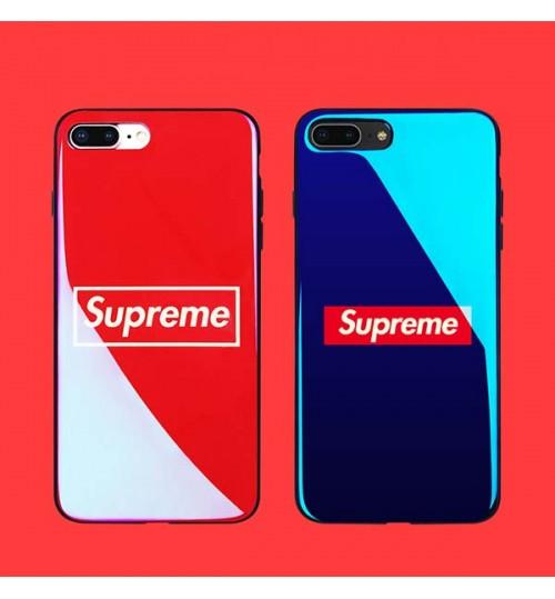 ファションブランドシュプリームiPhoneX/8/7 Plusケース ブルレイー SUPREME 可愛い GalaxyS9/S9+保護カバー ストラップホール付き 青春風 男女向け Huawei P20/P20 Liteカバー supreme 新品