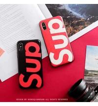 SUPREME 日韓風 iPhoneXS/XS Max/XR ケース 個性 シュプリーム/SUP iPhone X/8/8 Plus保護カバー 耐衝撃 アイフォン7/6s/6 Plusケース ペア用