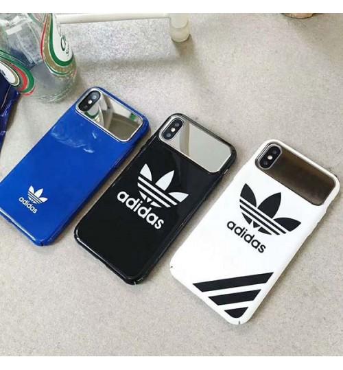 アディダス iPhone Xs/Xs Max/Xrケース adidas 運動風 おしゃれ ブランド iPhoneX携帯カバー 耐衝撃 男女 アイフォン8/8 Plusカバー 激安