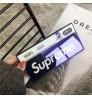 日韓風 ブランドシュプリームiPhone Xs Maxカバー おしゃれ Supreme iPhone Xrケース ガラス背面ケース ペア用 ブランド SUPREME アイフォンX/8/7 プラス携帯カバー 耐衝撃 人気