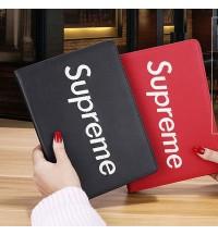 シュプリームペアiPad 2018 9.7ケース 手帳型  supreme 2017 ipad pro 9.7 スタンド付き カバー ipad air1/air2 ipad mini 1/2/3/4カバー ブランド 革製 激安