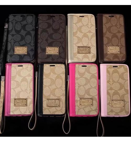 iPhone Xr/Xs Maxケース COACH ブランド 手帳型 アイフォンX/8/8 Plus カバー メンズレディース ブランド galaxy S9/S9 Plusケース ギャラクシーS8/S8+カバー ビジネス風 カード入れ