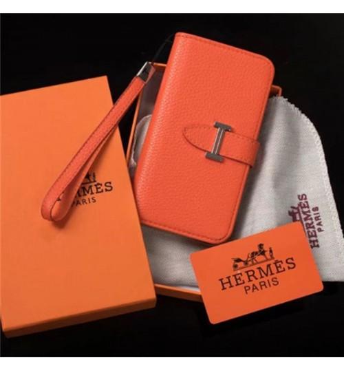 ブランド Hermes iphone xs max/xrケース 女性向け アイフォンx/8/7 plusケース エルメス 手帳型 オシャレ Galaxy/ギャラクシー s9+/s9/s8+/s8 カバー 革製 芸能人愛用