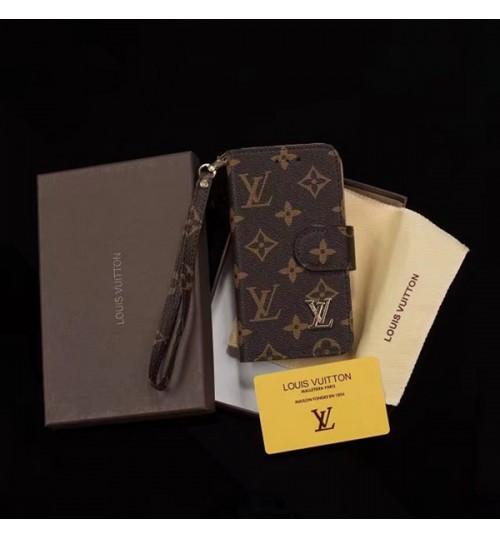 シュプリームルイヴィトンゴラボ ビジネス風 ギャラクシー s9+/s9/s8+/s8/s7 edgeケース  グッチ iphone x/8 plus/8/7 plus/7 手帳型 保護カバー ログずくめ 革製 カード入れ