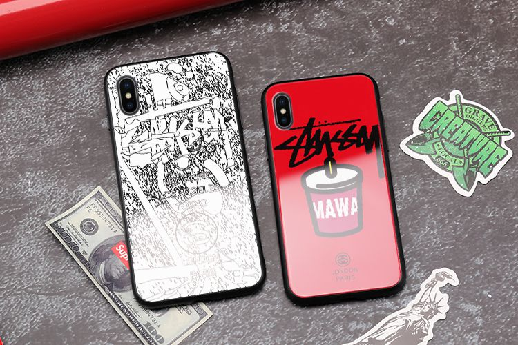stussy iPhone XRガラスケース