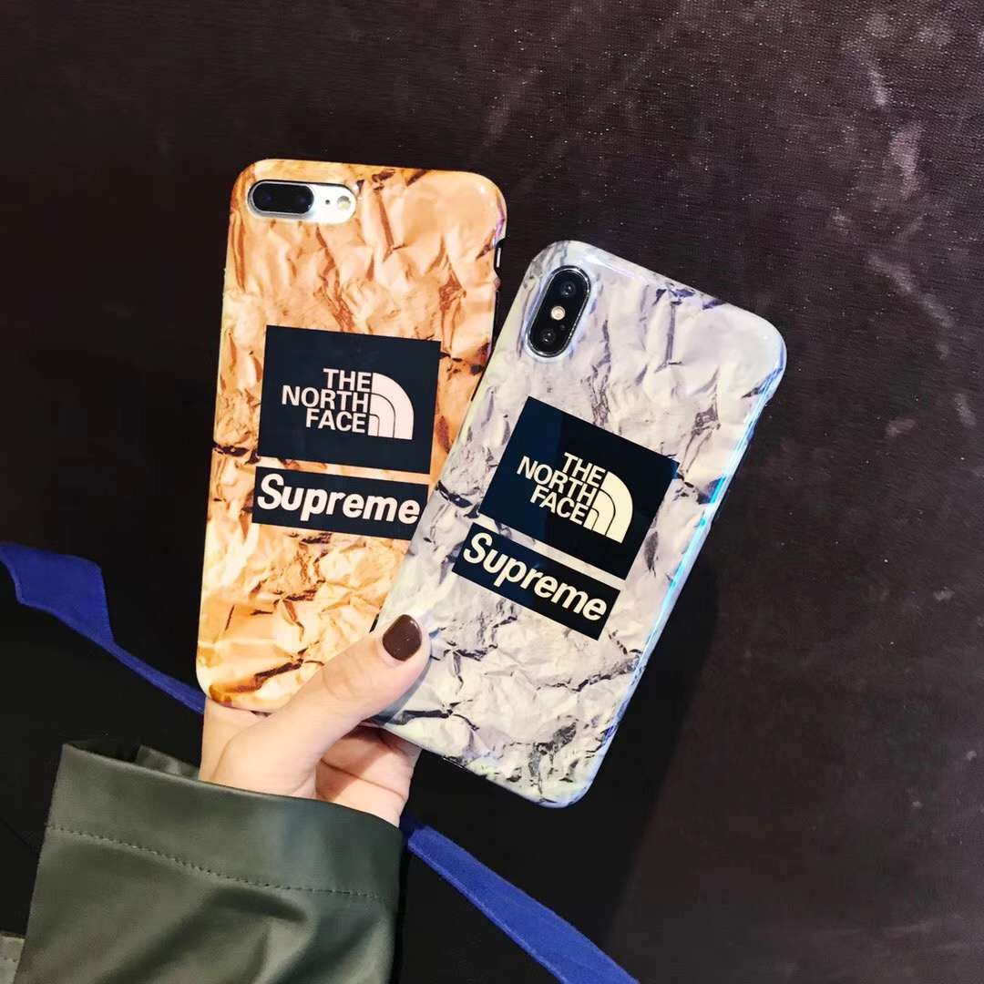 supreme the north face アイフォンX Plusケース